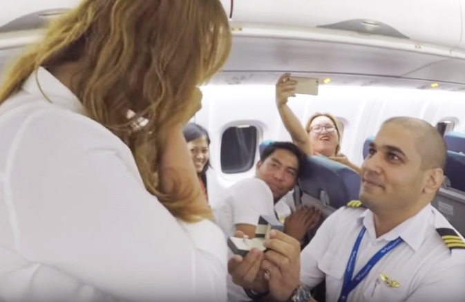 Love is in the Air With This In-flight Proposal