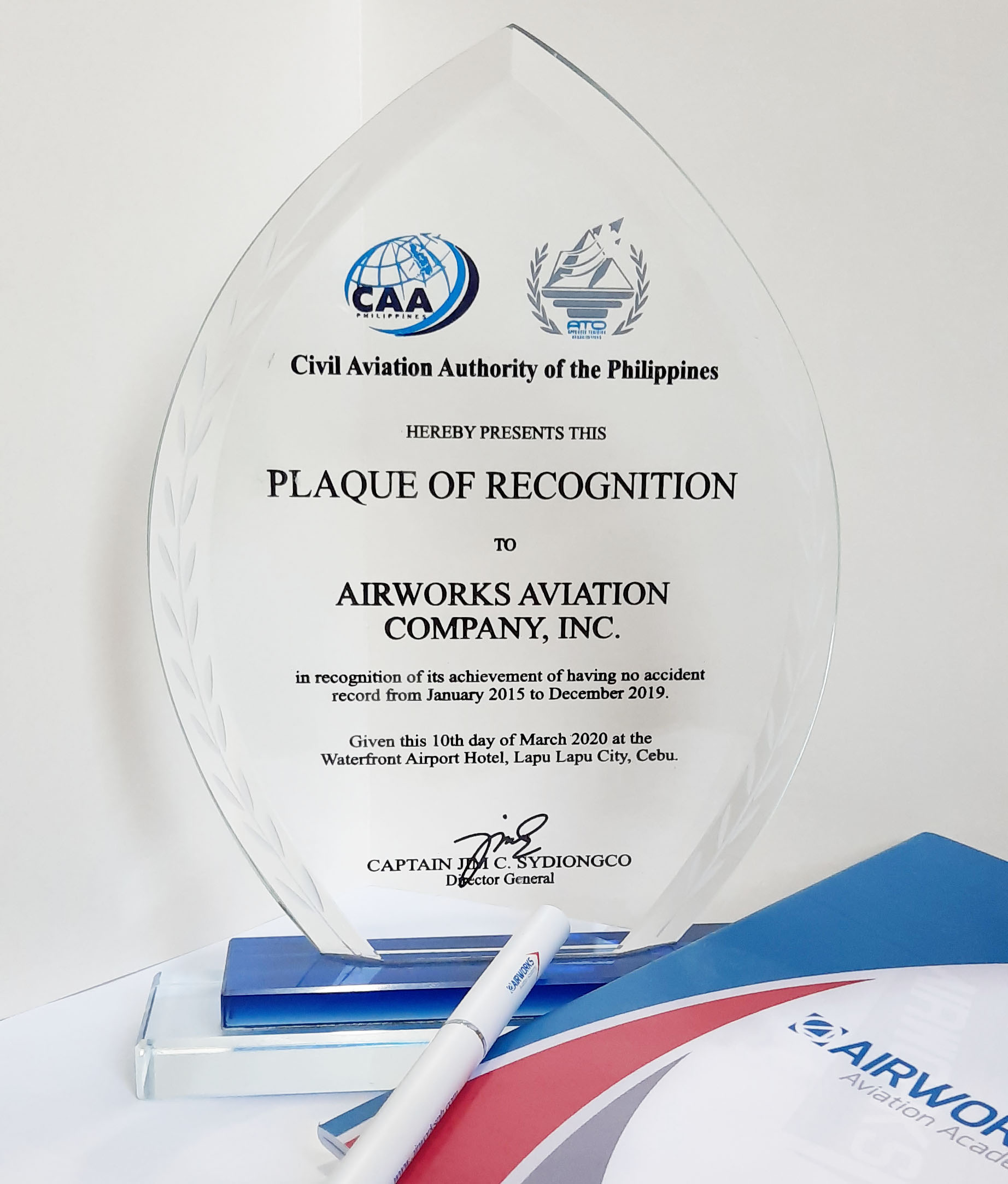 Airworks Receives Recognition Award for Safety at ATO Summit 2020